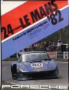 Porsche Original Rennplakat 1982 - 24 Stunden Von Le Mans - Leichte Gebrauchsspuren