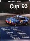 Porsche Original Rennplakat 1993 - Porsche Cup - Gut Erhalten