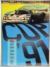 Porsche Original Rennplakat 1991 - Porsche Cup - Gut Erhalten