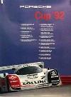 Porsche Original Rennplakat 1992 - Porsche Cup - Lädiert