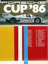 Porsche Original Rennplakat 1986 - Porsche Cup - Leichte Gebrauchsspuren