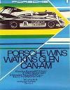 Porsche Original Rennplakat 1973 - Porsche Watkins Glen Can-am - Gut Erhalten