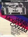 Porsche Original Rennplakat 1973 - Mosport Can-am - Leichte Gebrauchsspuren