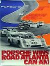 Porsche Original Rennplakat 1973 - Can-am Road Atlanta - Gut Erhalten