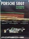 Porsche Original Rennplakat 1991 - 24 Stunden Von Daytona - Gut Erhalten