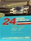 Porsche Original Rennplakat 1987 - 24 Stunden Von Le Mans - Lädiert