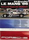 Porsche Original Rennplakat 1986 - 24 Stunden Von Le Mans - Gut Erhalten