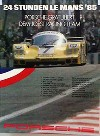 Porsche Original Rennplakat 1985 - 24 Stunden Von Le Mans - Gut Erhalten