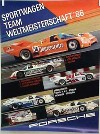 Porsche Original Rennplakat 1986 - Sportwagen Team Weltmeisterschaft - Gut Erhalten