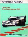 Porsche Original 1985 - Rothmans Endurance Team Weltmeister - Gut Erhalten