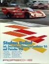 Porsche Original Rennplakat 1984 - Stefan Bellof Int. Deutscher Rennsportmeister - Leichte Gebrauchs