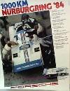 Porsche Original Rennplakat 1984 - 1000 Km Nürburgring - Lädiert