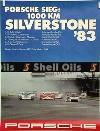 Porsche Original 1983 - Sieg 1000 Km Silverstone - Gut Erhalten