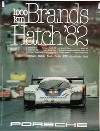 Porsche Original Rennplakat 1982 - 1000 Km Brands Hatch - Mint