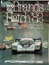 Porsche Original Rennplakat 1982 - 1000 Km Brands Hatch - Gut Erhalten