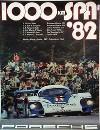 Porsche Original Rennplakat 1982 - 1000 Km Spa - Leichte Gebrauchsspuren