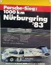 Porsche Original Rennplakat 1983 - Sieg 1000 Km Nürburgring - Gut Erhalten