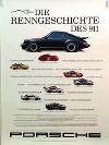 Porsche Original Werbeplakat 1988 - Die Renngeschichte Des 911 - Gut Erhalten