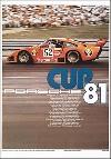 Porsche Cup 1981 - Porsche Postkarte