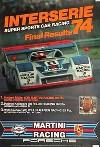 Porsche Original Rennplakat 1974 - 917/20 Turbo Interserie Müller - Gut Erhalten