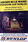 Porsche Original Rennplakat 1977 - Porsche 936 24 Stunden Le Mans - Gut Erhalten