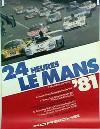 Porsche Original Rennplakat 1981 - 24 Stunden Von Le Mans - Leichte Gebrauchsspuren