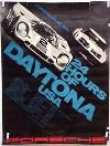 Porsche Original Rennplakat 1972 - 24 Stunden Von Daytona - Gut Erhalten