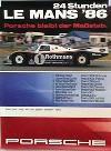 Porsche Original Rennplakat 1986 - 24 Stunden Von Le Mans - Leichte Gebrauchsspuren