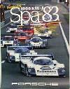Porsche Original Rennplakat 1983 - Sieg 1000 Km Spa - Gut Erhalten