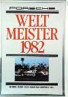 Porsche Original Rennplakat 1982 - Weltmeister - Leichte Gebrauchsspuren
