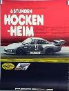 Porsche Original Rennplakat 1977 - Porsche 935 6 Stunden Hockenheim - Gut Erhalten