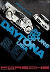 Porsche Original Rennplakat 1971 - 24 Stunden Von Daytona - Leichte Gebrauchsspuren