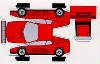 Bastelpostkarte Construction Postcard Ferrari Testarossaferrari