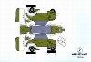 Bastelpostkarte Construction Postcard Messerschmitt Kabinenroller