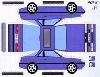 Bastelpostkarte Nissan Sunny Designed Volker