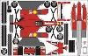 Bastelpostkarte Ferrari F1 2000 Designed