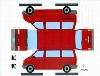 Bastelpostkarte Vw Bus Designed Volker