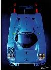 Mercedes Silberpfeil C 9 Race- Postcard Reprint