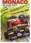 Monaco Grand Prix 1977 - Postkarte Reprint