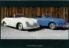 Porsche 356 Vor-a-cabrio And C - Postkarte Reprint
