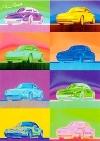 Porsche 911 Carrera - Postkarte Reprint
