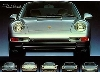 Porsche 911 Carrera 993 Front-evolution - Postcard Reprint