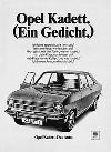 Opel Kadett Anzeige 1970