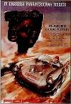 Porsche Carrera Panamericana Mexico 1953 - Postkarte Reprint