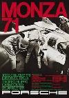 Porsche Rennplakat Reprint Monza 71 - Postkarte Reprint