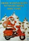 Vespa Weihnachtskarte 1990 Motorroller