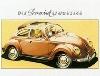 Vw Volkswagen Beetle Sunroof Advertisement Postcard