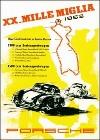Porsche Postkarte - Xx. Mille Miglia 1953