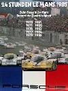 Porsche Postkarte - 24 Stunden Le Mans 1985 Zehn Siege