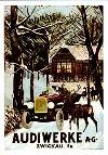 "Audi 14 Typ C ""alpensieger"" (1919 - 1923) 4 Zylinder, 3.5 Liter 35 Ps - Postkarte Reprint"